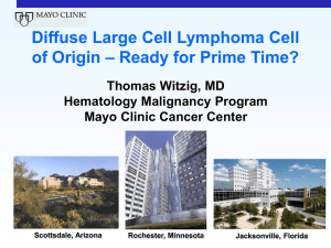 Cell of Origin subclassification for DLBCL – if we can
