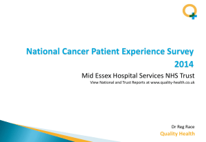 RQ8 Mid Essex Hopsital Services NHS Trust NCPES RR