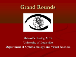Ocular Cicatrial Pemphigoid - University of Louisville Department of