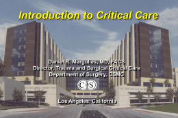 CONTROL OF CARDIAC OUTPUT - UCLA Department of Surgery