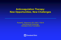 Anticoagulants - American Osteopathic Association