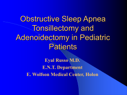 The Tonsils and Adenoids in Pediatric Patients