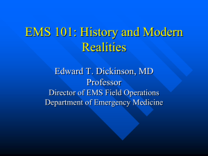 EMS 101: History and Modern Realities