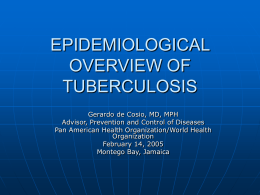 epidemiological overview of tuberculosis - epidat