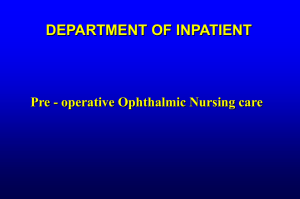 Preoperative Ophthalmic nursing care