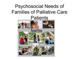 Caring for the Families of Palliative Care Patients