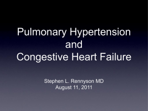 Pulmonary HTN in Heart Failure