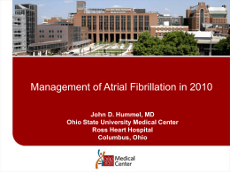 Managing Atrial Fibrillation - Scioto County Medical Society