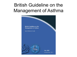 Click to British Guidelines on the Management of Asthma