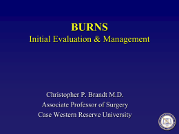 Burns Initial Evaluation and Management