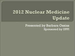 Billing for the Nuclear Medicine Practice
