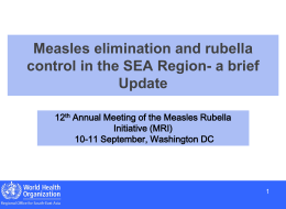 UN Reform - Measles & Rubella Initiative