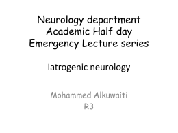 Neurology department Academic Half day Emergency Lecture