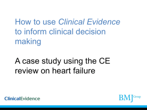 Case study of a patient with heart failure