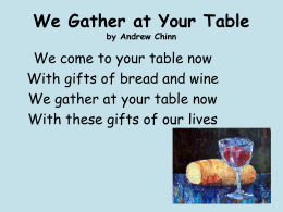 We Gather At Your Table (2)