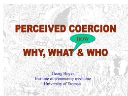 methodological issues in measuring coercion