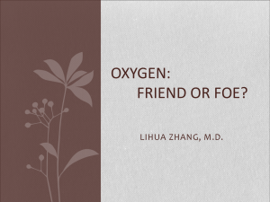 oxygen - Tulane University Department of Anesthesiology