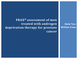 FRAX® assessment of men treated with androgen deprivation