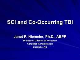 SCI and Co-Occurring TBI - Medical University of South Carolina