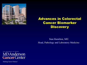 Advances in Colorectal Cancer Biomarker Discovery