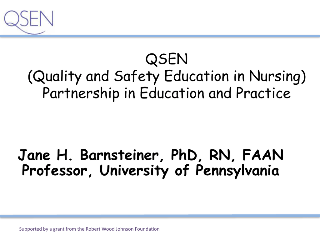 Qsen Powerpoint Template Maine Partners In Nursing Education