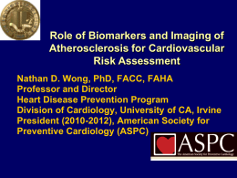 Biomarkers and Imaging for Prevention of CVD