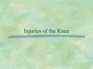 Injuries of the Knee and Hip