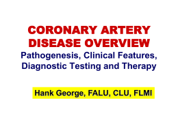 Coronary Disease Overview