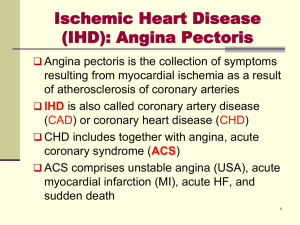 Atypical features of angina pain