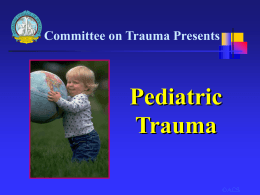 ATLS guidelines on paediatric trauma