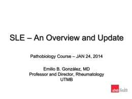 SLE - An Update - basic human pathobiology