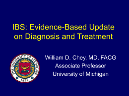 IBS: Evidence-Based Update on Diagnosis and Treatment