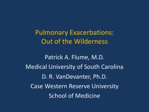 Pulmonary exacerbations plenary - North American Cystic Fibrosis