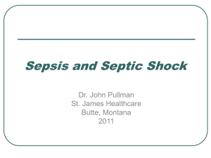 Sepsis and Septic Shock 2011 - st. james healthcare education