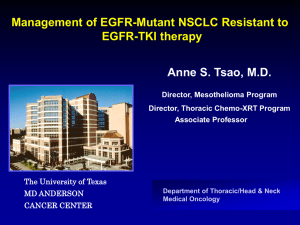 Management of EGFR-mutant NSCLC resistant to EGFR