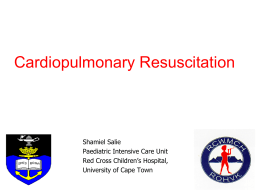 Paediatric Resuscitation Guidelines 2010 - Vula