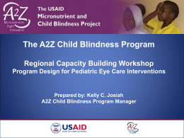 A2Z Child Blindness Program Overview