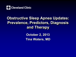 Obstructive Sleep Apnea Updates - American Osteopathic Association