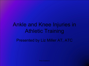 Knee, Ankle, and Foot Injuries in Athletic Training