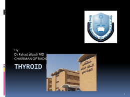 Lecture 4-Radiology of thyroid,Parathyroid, and Adrenal