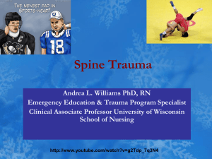 Spine Trauma - University of Wisconsin Hospital and Clinics
