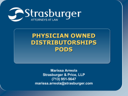 Physician-Owned Distributorships