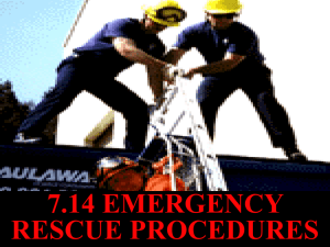 DESCRIBE the requirements for a confined space rescue