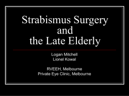 """Elderly"" - who? - The Private Eye Clinic"