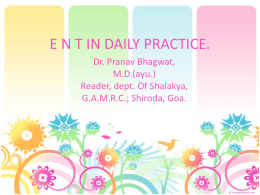 E N T IN DAILY PRACTICE