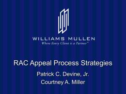 RAC Appeals - Williams Mullen