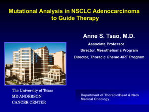 How I utilize mutational analysis in NSCLC