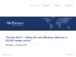 Failing firm defence - Competition Law Association