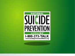 2 IR Presentation - Texas Suicide Prevention