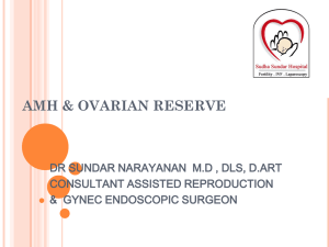 ovarian reserve - Nagercoil Obstetric and Gynaecological Society